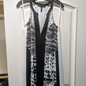 BCBG MaxAzria Black and White Trapeze Dress